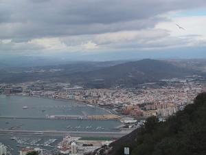 Utsikt från toppen Gibraltar
