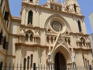 Vacker kyrka i Malaga