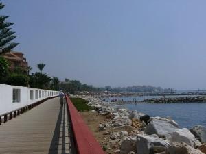 Strandpromenad från San Pedro.