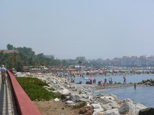 Stranden sett från San Pedro